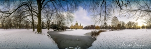 Panorama Neues Rathaus Hannover im Winter