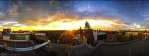 360 Grad Panorama - Sonnenuntergang über den Dächern von Hannover